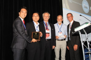 IAAD Fusayama Junior Scientist Award.From left to right-Jin-Ho Phark.Fu-Cong Tian, Jean-Francois Roulet, Uwe Blunck, Markus B Blatz