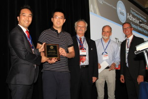 IAAD Student Scientist Award.From left to right-Jin-Ho Phark.Bo Yang, Jean-Francois Roulet, Uwe Blunck, Markus B Blatz.